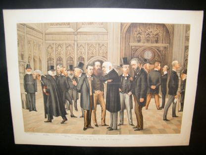 Vanity Fair Double Print 1886 The Lobby of the House of Commons | Albion Prints